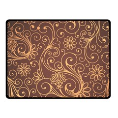 Gold And Brown Background Patterns Fleece Blanket (Small)