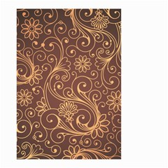Gold And Brown Background Patterns Small Garden Flag (two Sides)