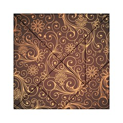 Gold And Brown Background Patterns Acrylic Tangram Puzzle (6  X 6 )