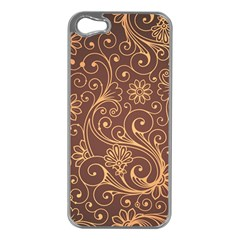 Gold And Brown Background Patterns Apple Iphone 5 Case (silver)
