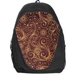 Gold And Brown Background Patterns Backpack Bag