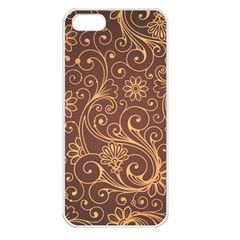 Gold And Brown Background Patterns Apple iPhone 5 Seamless Case (White)