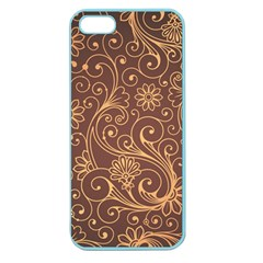 Gold And Brown Background Patterns Apple Seamless Iphone 5 Case (color)