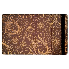 Gold And Brown Background Patterns Apple Ipad 3/4 Flip Case