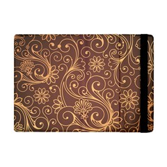 Gold And Brown Background Patterns Apple Ipad Mini Flip Case