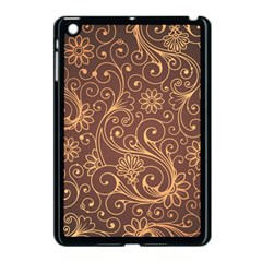 Gold And Brown Background Patterns Apple Ipad Mini Case (black)