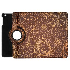 Gold And Brown Background Patterns Apple iPad Mini Flip 360 Case