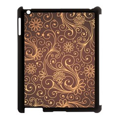Gold And Brown Background Patterns Apple Ipad 3/4 Case (black)