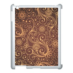 Gold And Brown Background Patterns Apple Ipad 3/4 Case (white)