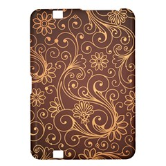 Gold And Brown Background Patterns Kindle Fire HD 8.9