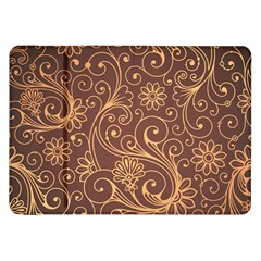 Gold And Brown Background Patterns Samsung Galaxy Tab 8 9  P7300 Flip Case