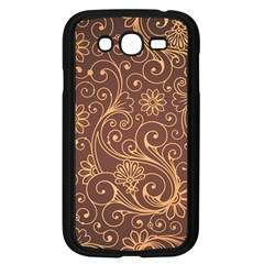 Gold And Brown Background Patterns Samsung Galaxy Grand Duos I9082 Case (black)