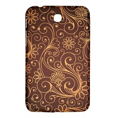 Gold And Brown Background Patterns Samsung Galaxy Tab 3 (7 ) P3200 Hardshell Case