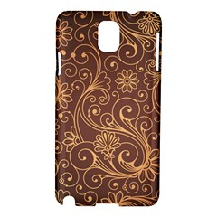 Gold And Brown Background Patterns Samsung Galaxy Note 3 N9005 Hardshell Case