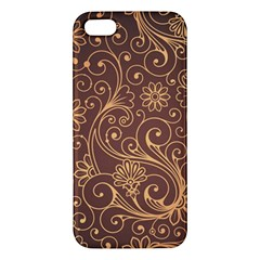 Gold And Brown Background Patterns Iphone 5s/ Se Premium Hardshell Case