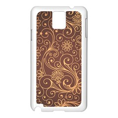 Gold And Brown Background Patterns Samsung Galaxy Note 3 N9005 Case (white)