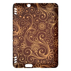 Gold And Brown Background Patterns Kindle Fire Hdx Hardshell Case
