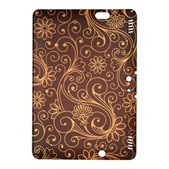 Gold And Brown Background Patterns Kindle Fire Hdx 8 9  Hardshell Case