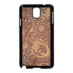 Gold And Brown Background Patterns Samsung Galaxy Note 3 Neo Hardshell Case (black)