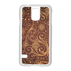 Gold And Brown Background Patterns Samsung Galaxy S5 Case (white)