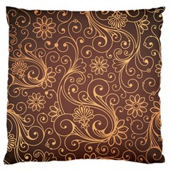 Gold And Brown Background Patterns Standard Flano Cushion Case (One Side)