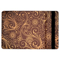 Gold And Brown Background Patterns Ipad Air 2 Flip