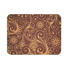 Gold And Brown Background Patterns Double Sided Flano Blanket (Mini)