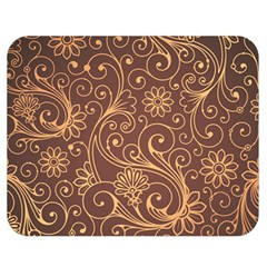 Gold And Brown Background Patterns Double Sided Flano Blanket (medium)