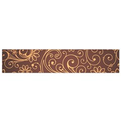 Gold And Brown Background Patterns Flano Scarf (Small)