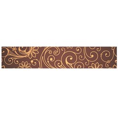 Gold And Brown Background Patterns Flano Scarf (large)