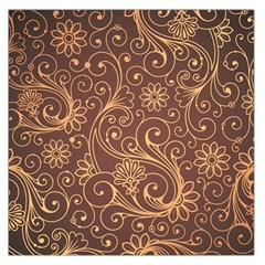 Gold And Brown Background Patterns Large Satin Scarf (square)