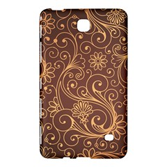 Gold And Brown Background Patterns Samsung Galaxy Tab 4 (8 ) Hardshell Case