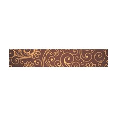 Gold And Brown Background Patterns Flano Scarf (mini)