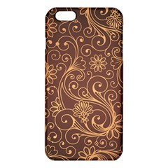 Gold And Brown Background Patterns Iphone 6 Plus/6s Plus Tpu Case