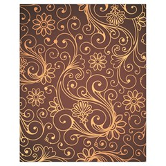 Gold And Brown Background Patterns Drawstring Bag (small)