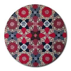 Beautiful Art Pattern Round Mousepads