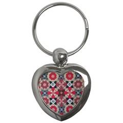 Beautiful Art Pattern Key Chains (Heart)
