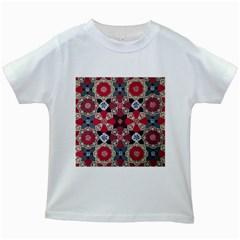 Beautiful Art Pattern Kids White T Shirts