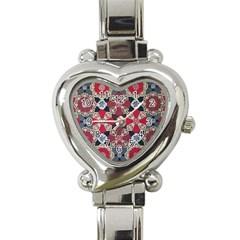 Beautiful Art Pattern Heart Italian Charm Watch