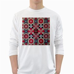 Beautiful Art Pattern White Long Sleeve T-Shirts