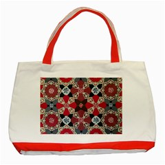 Beautiful Art Pattern Classic Tote Bag (red)