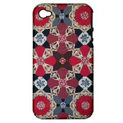 Beautiful Art Pattern Apple Iphone 4/4s Hardshell Case (pc+silicone)