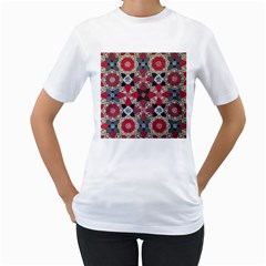 Beautiful Art Pattern Women s T Shirt (white)