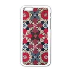 Beautiful Art Pattern Apple Iphone 6/6s White Enamel Case
