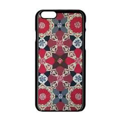 Beautiful Art Pattern Apple Iphone 6/6s Black Enamel Case