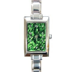 Green Attack Rectangle Italian Charm Watch