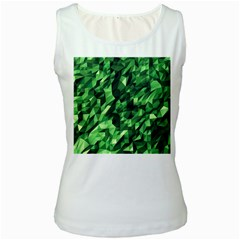Green Attack Women s White Tank Top