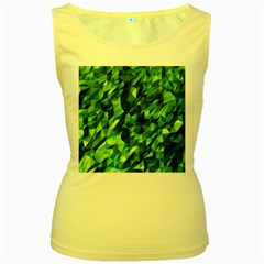 Green Attack Women s Yellow Tank Top