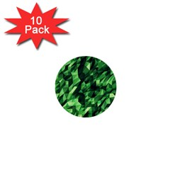 Green Attack 1  Mini Buttons (10 pack)