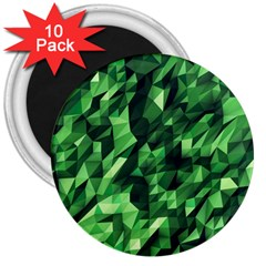 Green Attack 3  Magnets (10 pack)